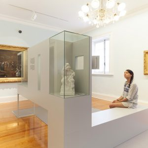 Módulos de contemplación para exposición en Pazo de Castrelos