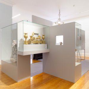 Piezas para visión detalles en exposición en pazo de Castrelos